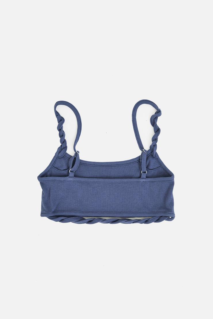 MARIEYAT Denim Blue Rope Top Bra Crop Navy Teal Underwear Lingerie Marie Yat Mary Yat A/W 17 AW17 F/W 17 FW17