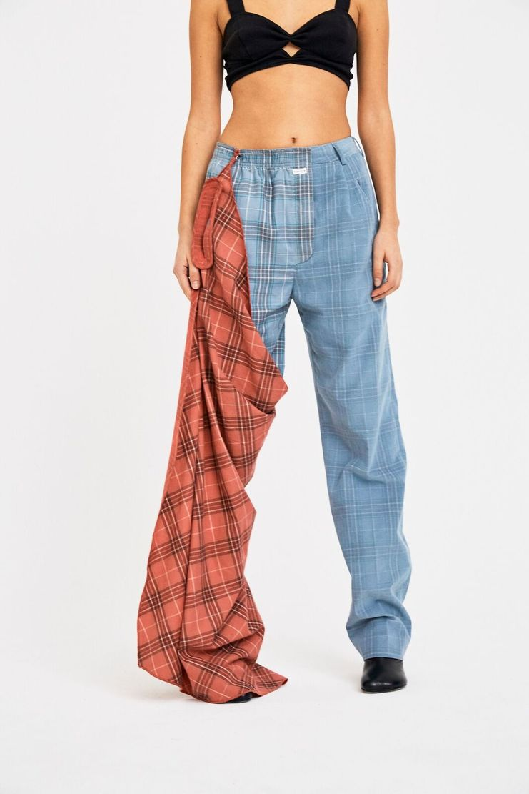 SIRLOIN VG Trousers A/W 17 F/W 17 FW17 AW17 Check Checkered Blue Red Pink Navy Pastel Shorts SIRLION