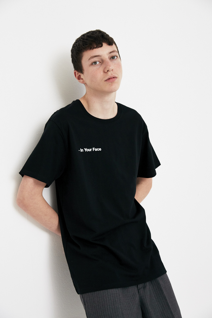 SHOWstudio 'In Your Face' T-shirt A/W 17 F/W 17 FW17 AW17 Fair Trade Carbon Footprint Vegan Organic Cotton Merchandise SS18 S/S 18