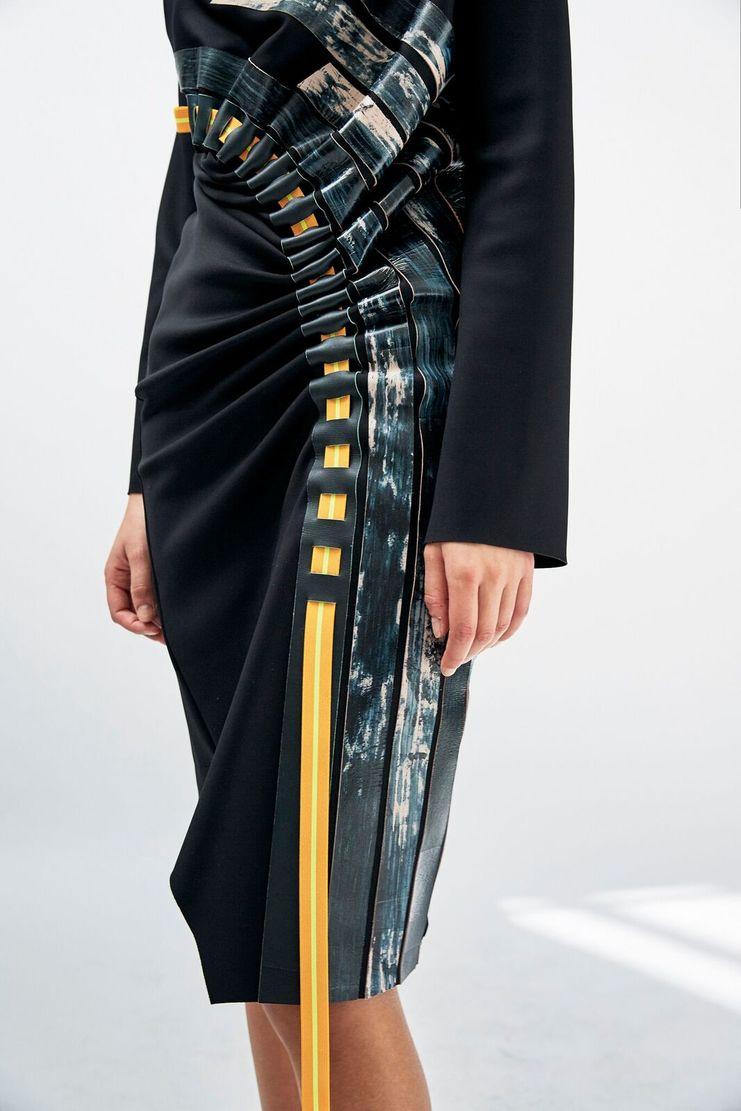 Martina Spetlova Front Drape Ribbon Dress A/W 17 F/W 17 FW17 AW17 Spetloova Spatlova