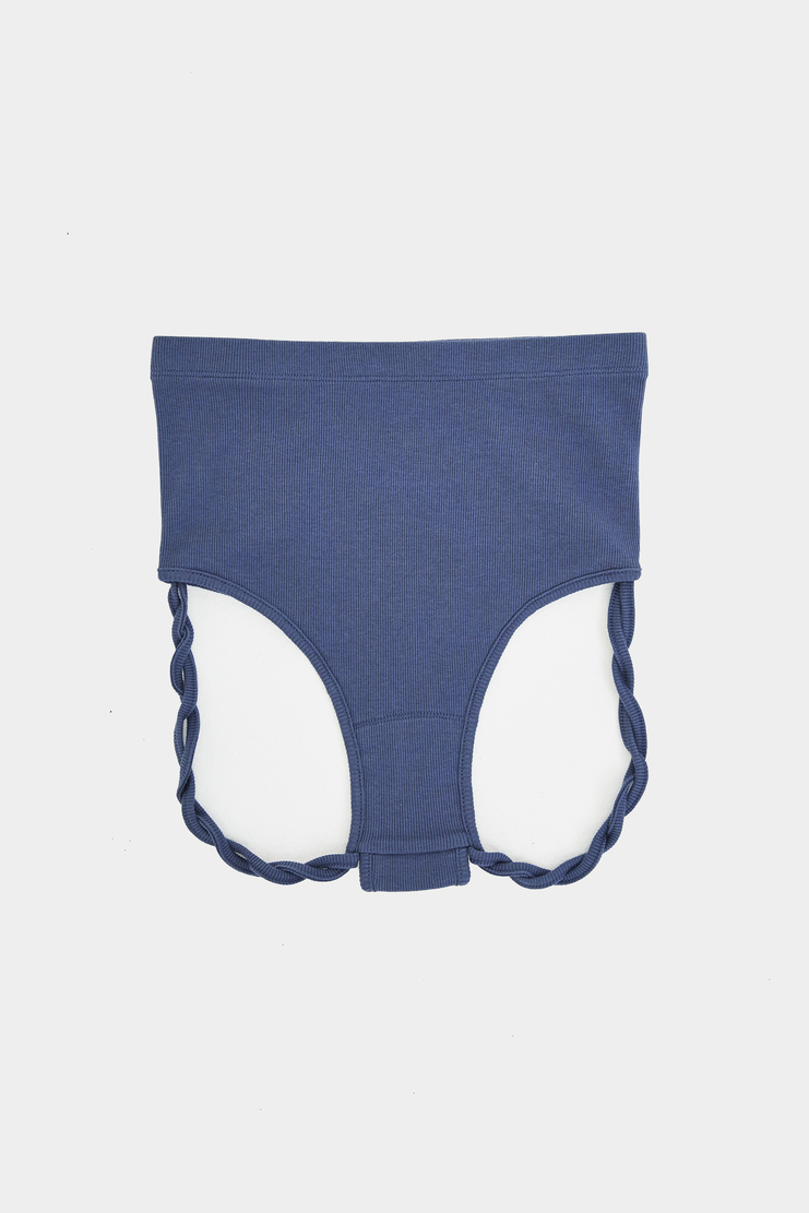 MARIEYAT - Rope Thong brief underwear panties pants blue cotton marie yat