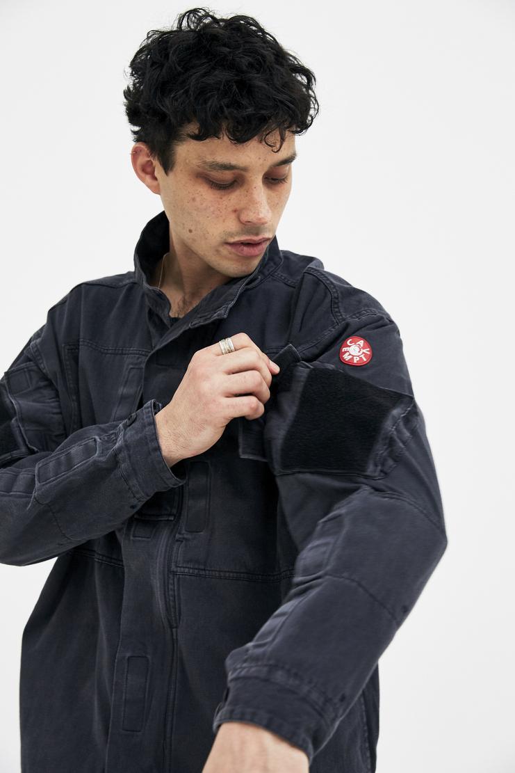 Cav Empt Black Zip-Up Jacket A/W 17 F/W 17 FW17 AW17 cavempt cabe cave emp emot empr coat winter christmas