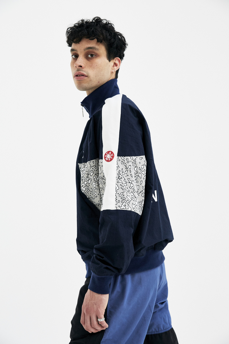 Cav Empt Blue Training Jacket sports high collar camo camouflage coat A/W 17 F/W 17 FW17 AW17 Navy cave emt cov emo