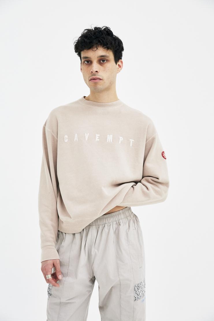 Cav Empt Beige Overdye Jumper A/W 17 F/W 17 FW17 AW17 Sweater Sweatshirt Nude Pullover cavempt empr empy cabe