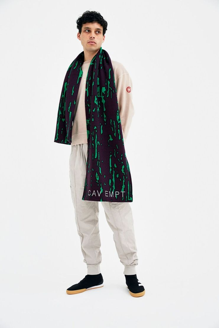 Cav Empt Purple Noise Scarf accessories winter christmas A/W 17 F/W 17 FW17 AW17 cave cavempt csv empr emot streetwear