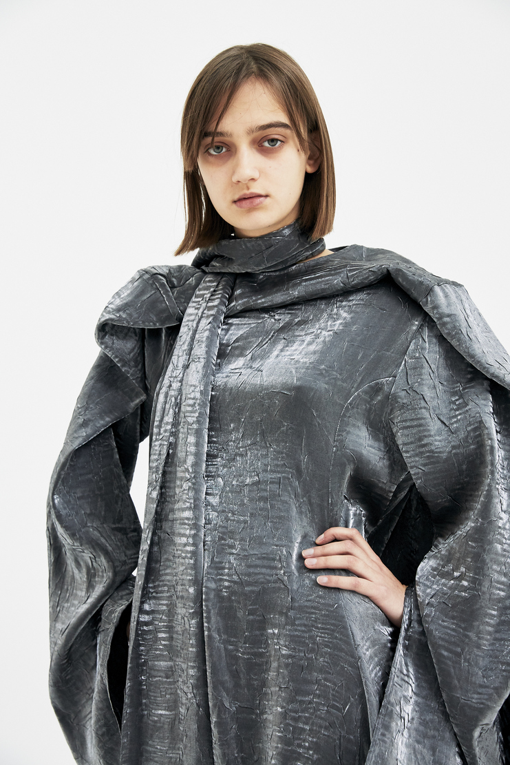 Y/Project Black Silver Dress Skirt Slivery Noir Metallic  A/W 17 F/W 17 FW17 AW17 Christmas Xmas Present Y-Project YProject Y Project