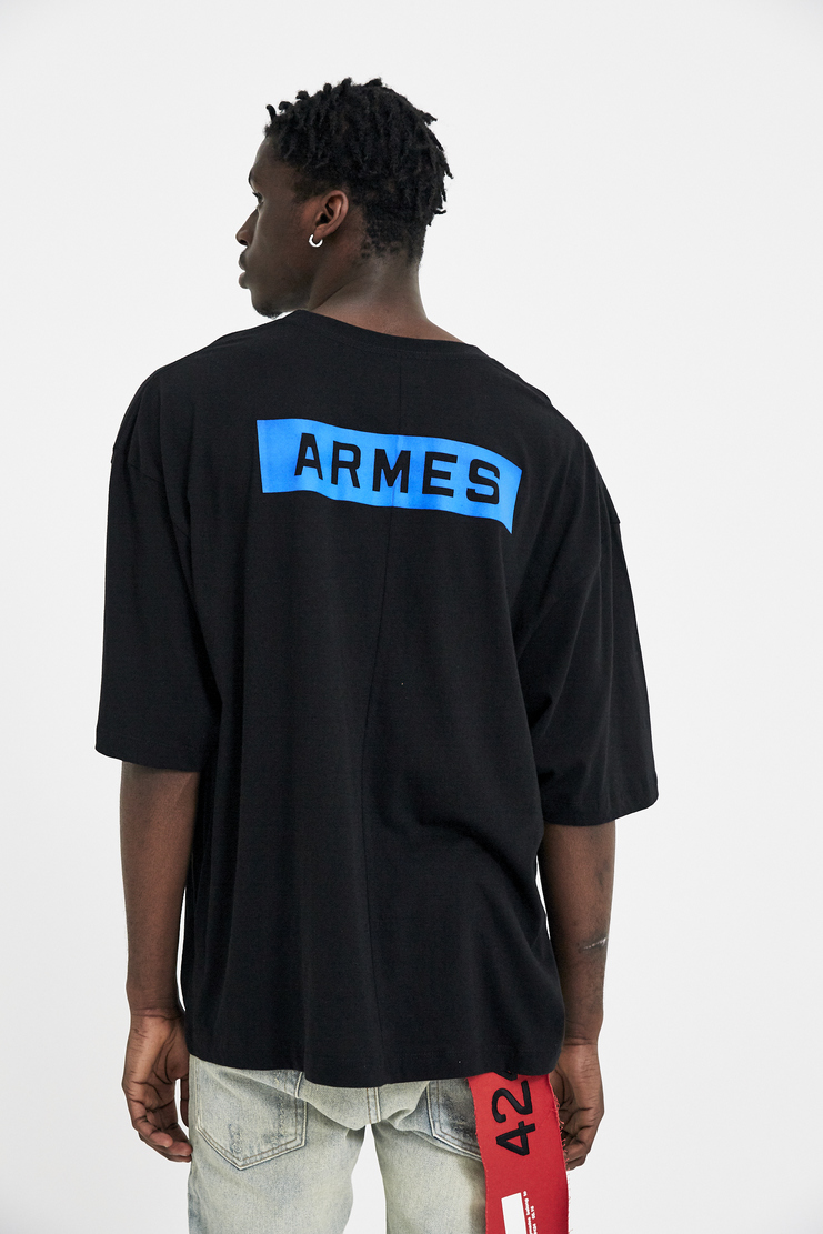424 X ARMES Black Box T-Shirt Top Tee T S/S 18 SS18 A/W 17 F/W 17 FW17 AW17 Streetwear Streetstyle  FOUR TWO FOUR ERMES ARMAS AND Spring Summer Winter Autumn