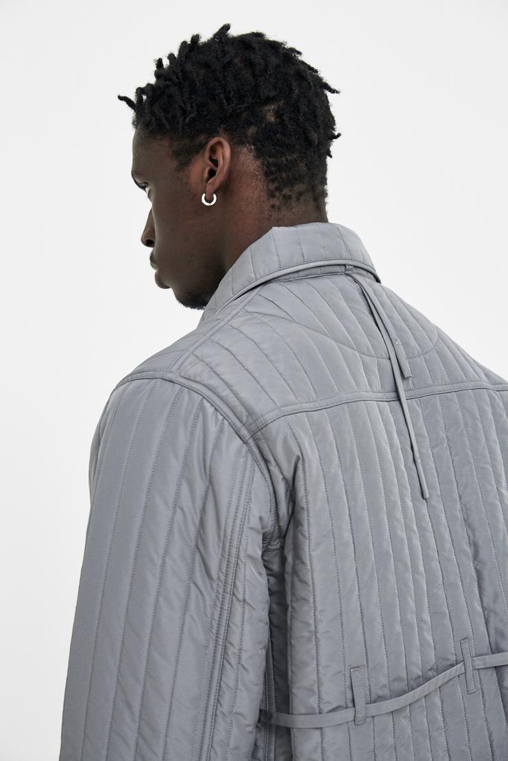 Craig Green Grey Quilted Workwear Jacket S/S 18 A/W 17 F/W 17 FW17 AW17 Coat Winter Autumn Crag Gren Craigreen Craiggreen