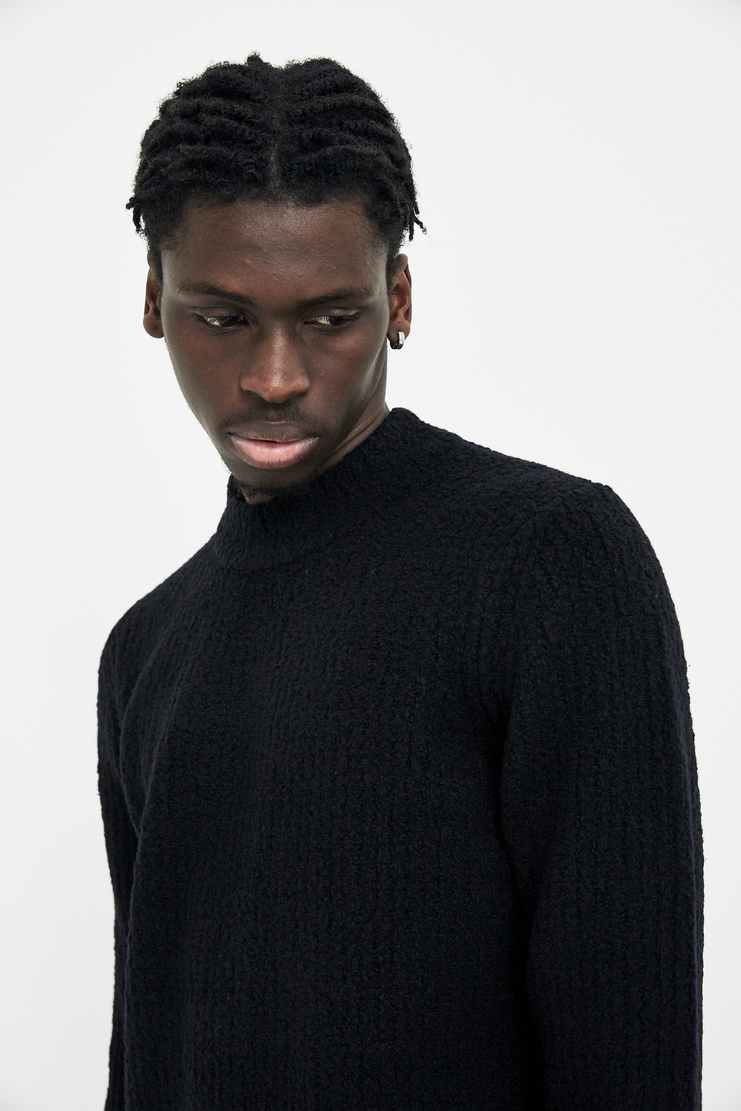 Craig Green Black Ribbed Sweater Charcoal Grey Dark Noir Noire Black S/S 18 A/W 17 F/W 17 AW17 FW17 Jumper Pullover Crag Gren Craigreen Craiggreen
