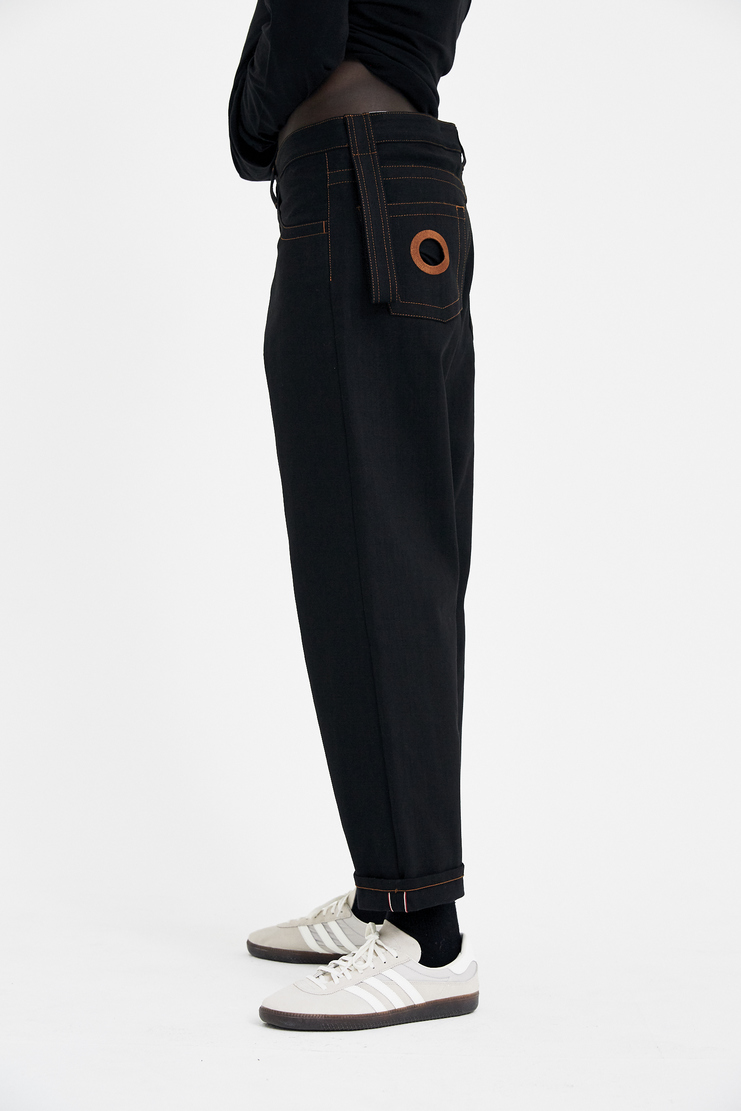 Craig Green Black Wide-Leg Jeans S/S 18 Spring Summer A/W 17 F/W 17 FW17 AW17 Trousers Skinny Bootcut Wide-Leg Straight Super Cropped Flare Crag Gren Craiggreen Craigreen