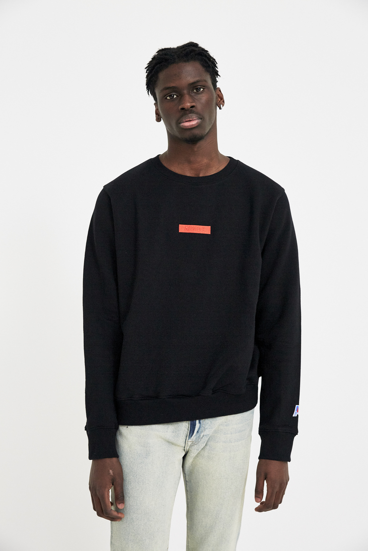 424 X ARMES Black Crewneck Jumper Pullover Top S/S 18 A/W 17 F/W 17 FW17 AW17 Streetwear Streetstyle Style FOUR TWO FOUR ERMES ARMAS AND Spring Summer Winter Autumn