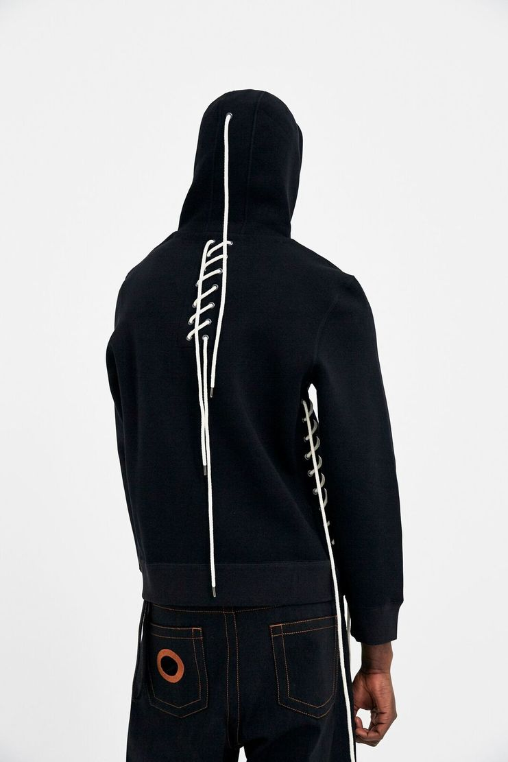 Craig Green Black Bonded Zip-Up Hoodie Pullover Sweatshirt Gym Kit A/W 17 F/W 17 FW17 AW17 Christmas Xmas X-mas Black Friday Craigreen Craiggreen