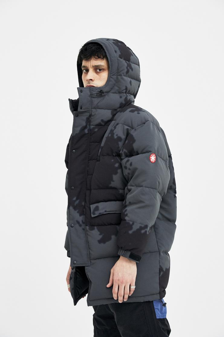 Cav Empt Dark Grey Long Puffer Jacket Japanese Streetwear camo camouflage coat A/W 17 F/W 17 FW17 AW17