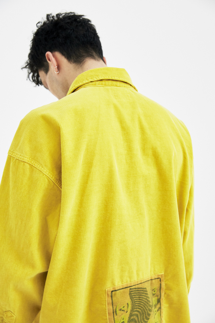 Cav Empt Yellow Mustard Big Chord Shirt jacket winter autumn christmas A/W 17 F/W 17 FW17 AW17 japanese streetwear stretch csv cavempt cave empt