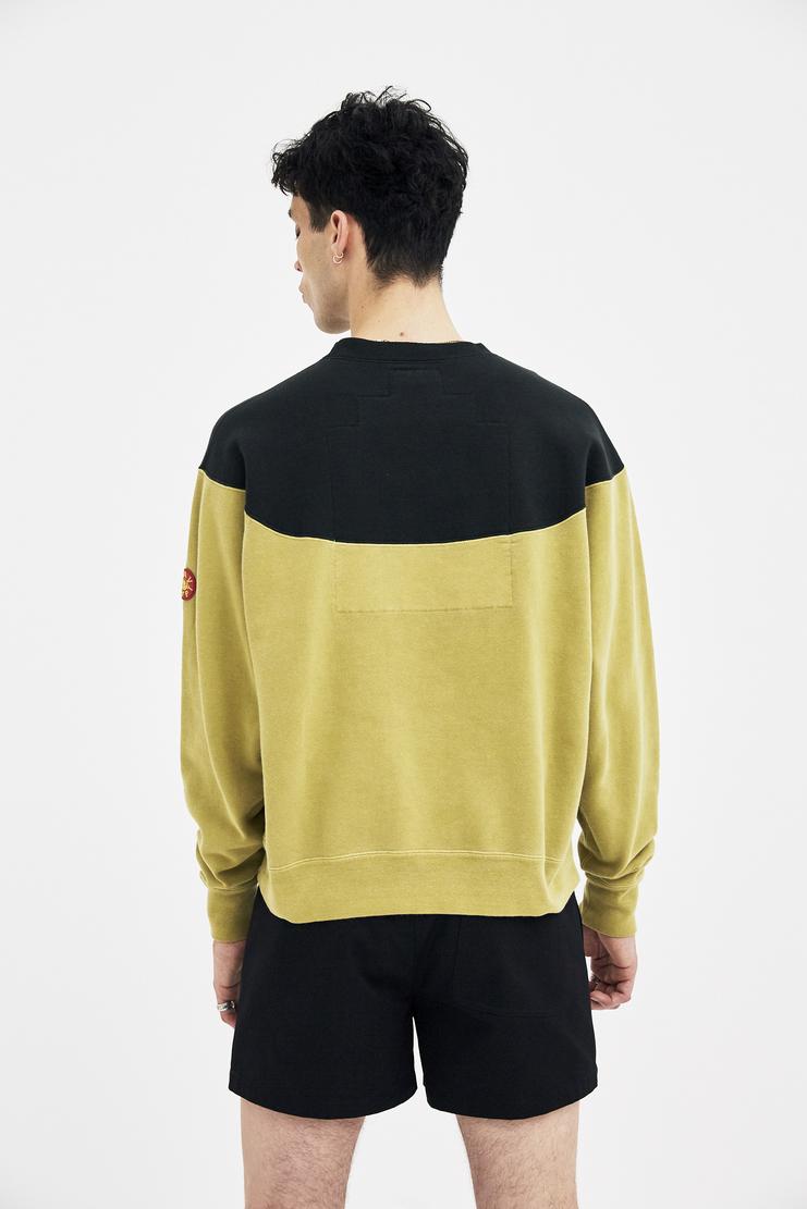 Cav Empt Crewn Neck A/W 17 F/W 17 FW17 AW17 jumper sweater pullover cavempt cab empot emot yellow christmas winter autumn japanese streetwear