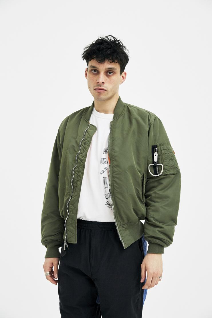 Alyx, E 1999 Eternal, MA-1 Bomber Jacket, Alyx Bomber Jacket, Olive, Menswear, Unisex, Coats, Jackets, New Arrivals, A/W 17