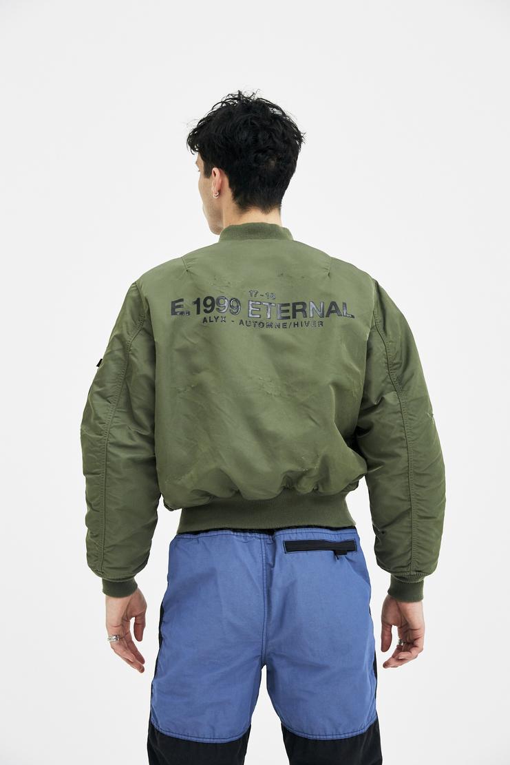Alyx, E 1999 Eternal, MA-1 Bomber Jacket, Alyx Bomber Jacket, Olive, Menswear, Unisex, Coats, Jackets, New Arrivals, AW17 E. 1999 Eternal