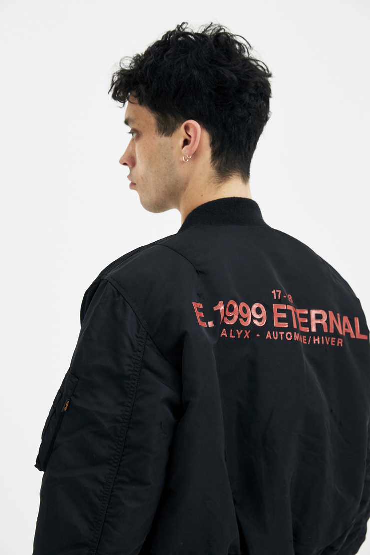 Alyx, E 1999 Eternal, MA-1 Bomber Jacket, Black, Menswear, Jacket, Coat, Outerwear, New Arrivals, New Season, A/W 17
