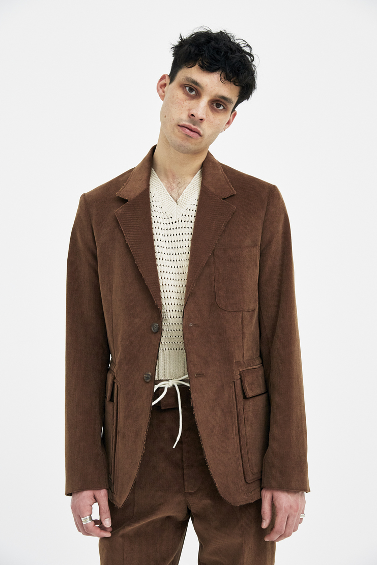 Maison Margiela Jacket Coat aw17 SS18 S/S 18 F/W 17 FW17 AW17 A/W 17 mm6 galliano brown orange 70s corduroy cordoroy maisoin mason maision margella margela mageila Summer Spring Autumn Winter Blazer Orange Christmas