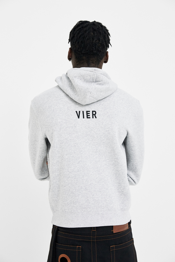 VIER Antwerp Hoodie hooded hood sweater jumper belgium raf simons skate aw17 ss18 cotton