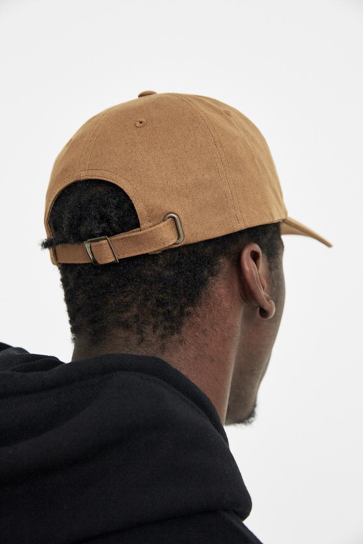 VIER Tan white Antwerp Dad Cap raf simons hat sticker embroidery belgium ss18 aw17 skate logo baseball