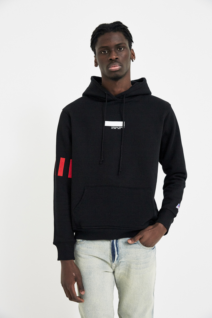 META KEYWORDS  424 X ARMES Black Hooded Sweatshirt Hoodie Jumper S/S 18 A/W 17 F/W 17 FW17 AW17 Streetwear Streetstyle Style FOUR TWO FOUR ERMES ARMAS AND Spring Summer Winter Autumn