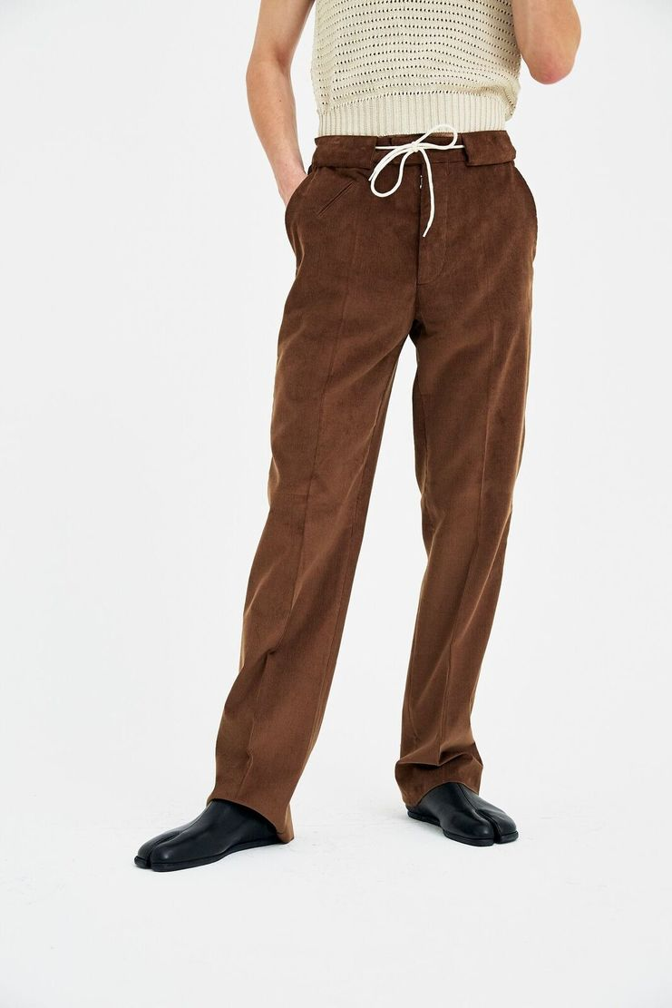Maison Margiela Brown Corduroy Pants SS18 S/S 18 aw17 a/w 17 mm6 galliano Christmas Gift high fashion Margela Margella Margeila Maisoin Mason Maision