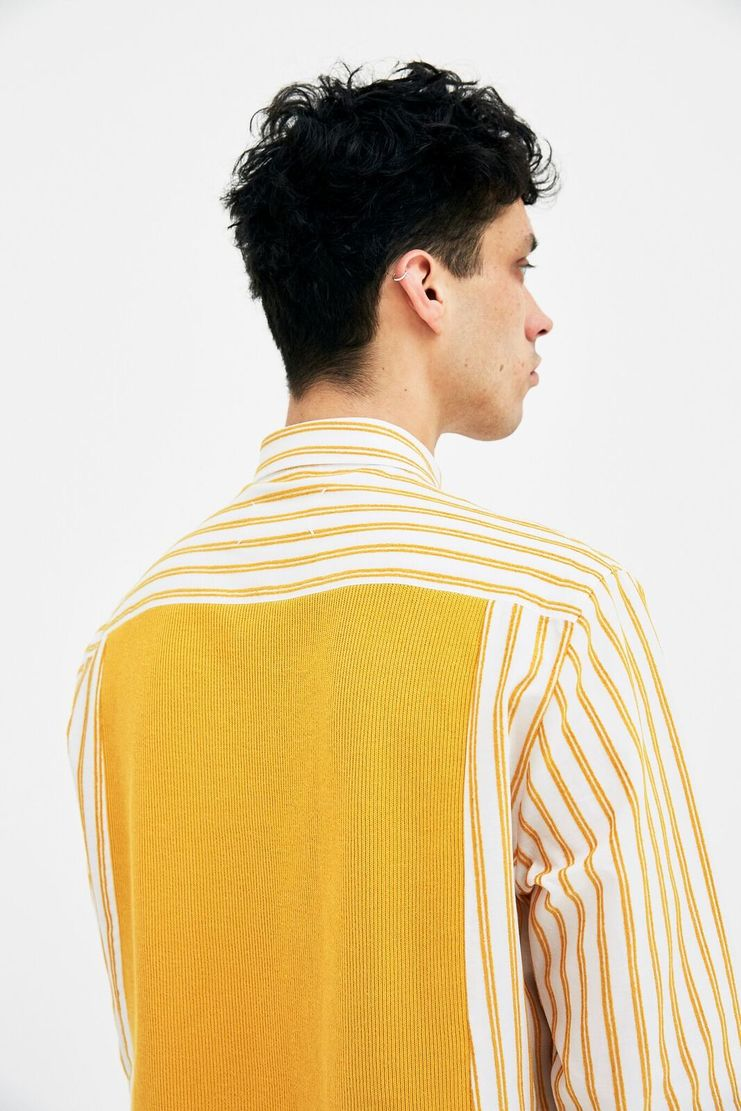 Maison Margiela Shirt Top Winter S/S 18 A/W 17 AW17 FW17 F/W 17 Autumn MM6 Yellow Chartreuse Lemon Summer Spring Mansion Mason Margela Margella Christmas