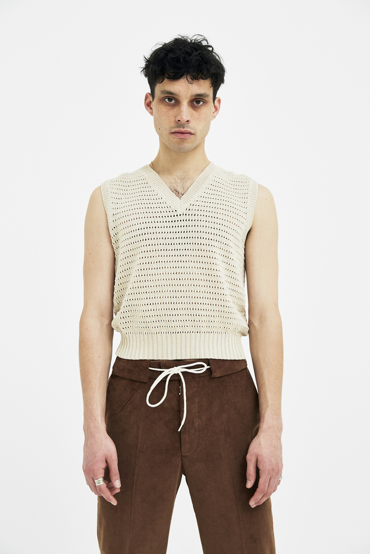 Maison Margiela Vest Sweater Knitted Jumper Top Winter S/S 18 A/W 17 SS 18 AW17 FW17 F/W 17 Spring Summer Winter Autumn knit woven margela mason