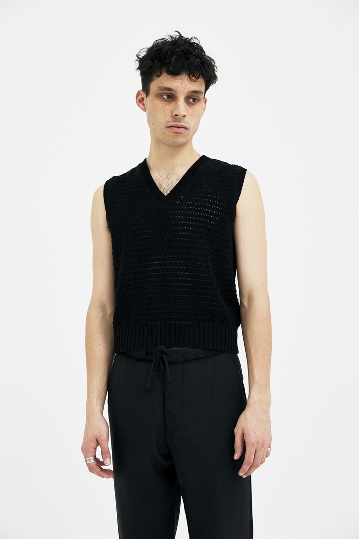 Maison Margiela Vest Sweater Knitted Jumper Top Winter A/W 17 AW17 FW17 F/W 17 Autumn knit woven margela mason