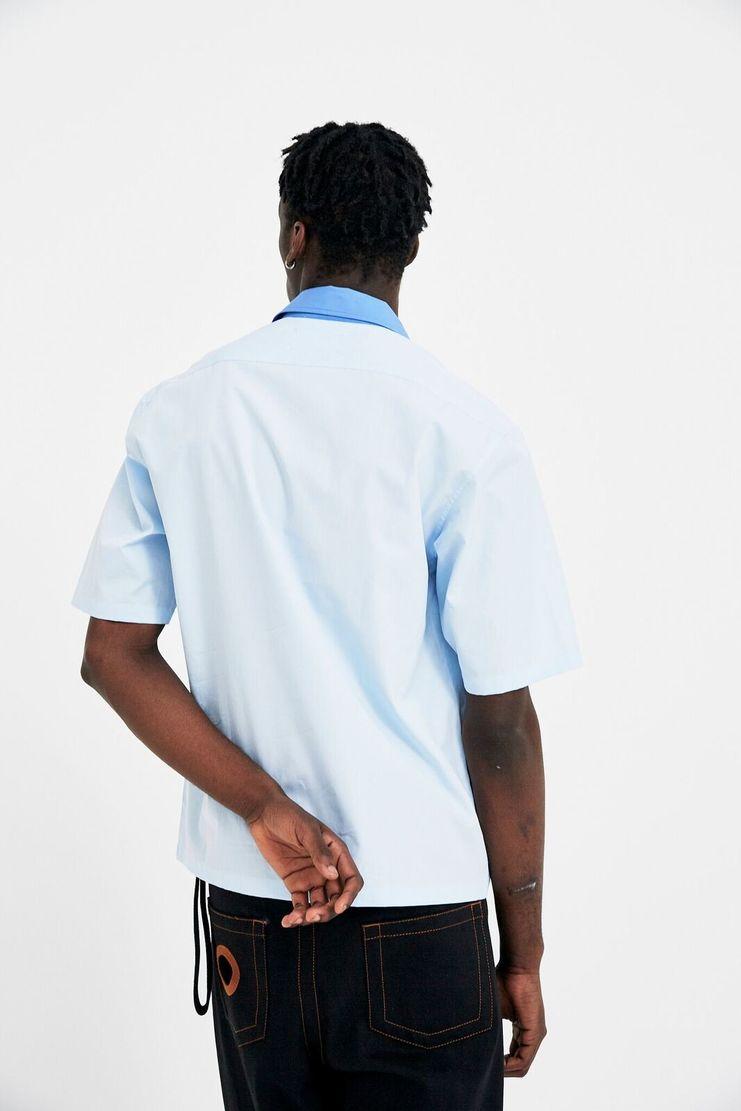 Maison Margiela Light Blue Collared Shirt Turquoise Sailor A/W 17 F/W 17 FW17 AW17 S/S 18 SS18 Mason Manson Maisson Margela Margeila Margela Margella