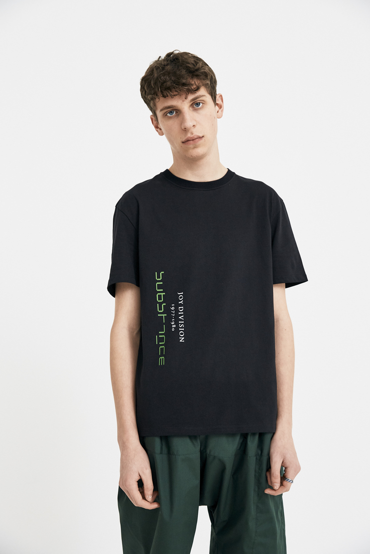 Raf Simons top Black Joy Division T-Shirt T Shirt black short sleeve round neckline printed SS18 S/S18 Spring Summer 2018 raff simmons 181-112-19000-00099 Machine-A