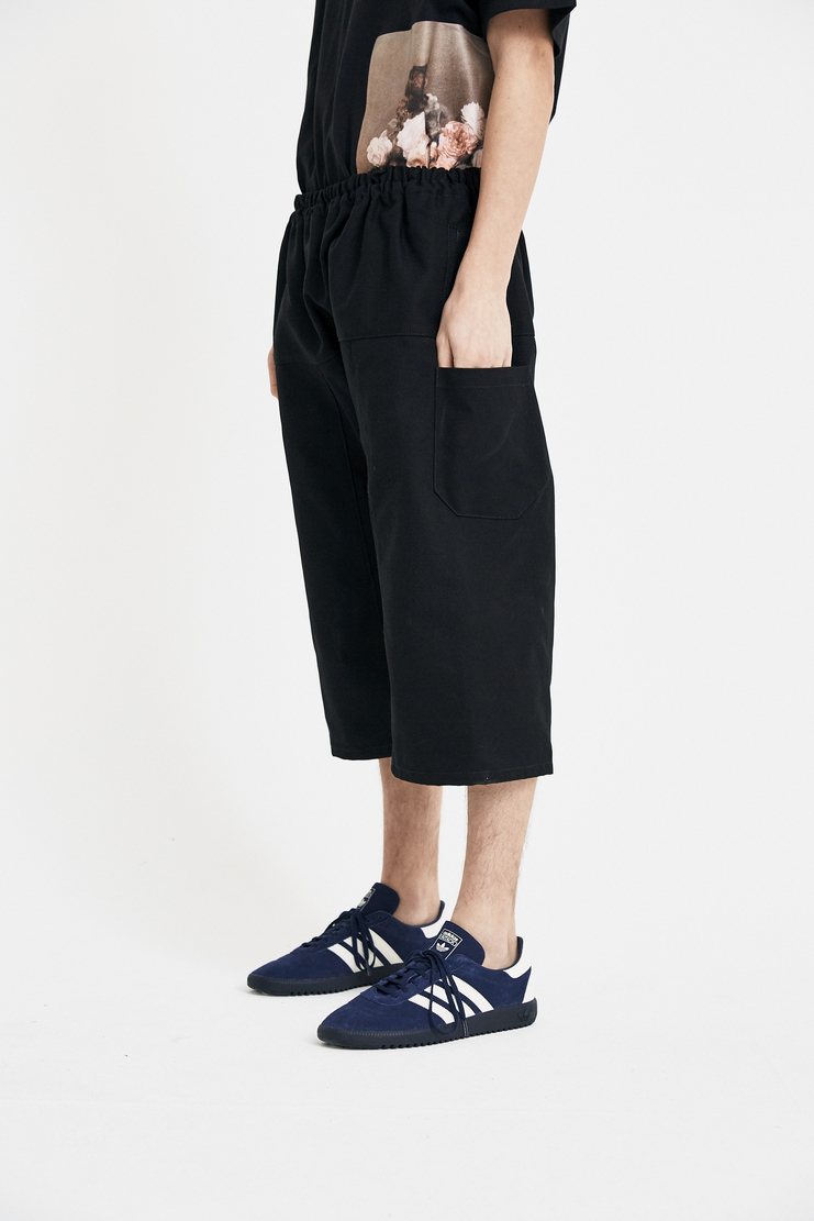 Raf Simons Black Short Pants S/S 18 SS18 Elasticated Spandex Trousers Raff Raaf Simoons Symons Simmons 181-350-15010-00030 Machine-A