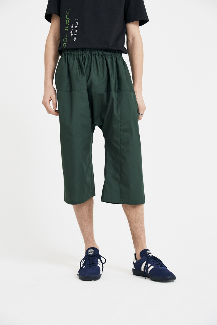 Raf Simons Green Short Pants S/S 18 SS18 Elasticated Spandex Trousers Raff Raaf Simoons Symons Simmons 181-350-15010-00026 Machine-A