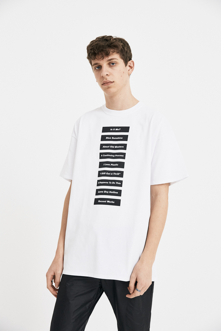 Raf Simons White Wording T-Shirt S/S 18 SS18 Slim Fit Raff Symons Simmons Raaf Tee Top 181-126-19000-00010 Machine-A