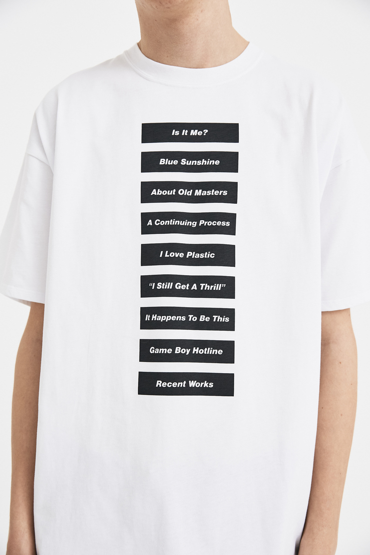 Raf Simons White Wording T-Shirt S/S 18 SS18 Slim Fit Raff Symons Simmons Raaf Tee Top 181-126-19000-00010 Machine-A