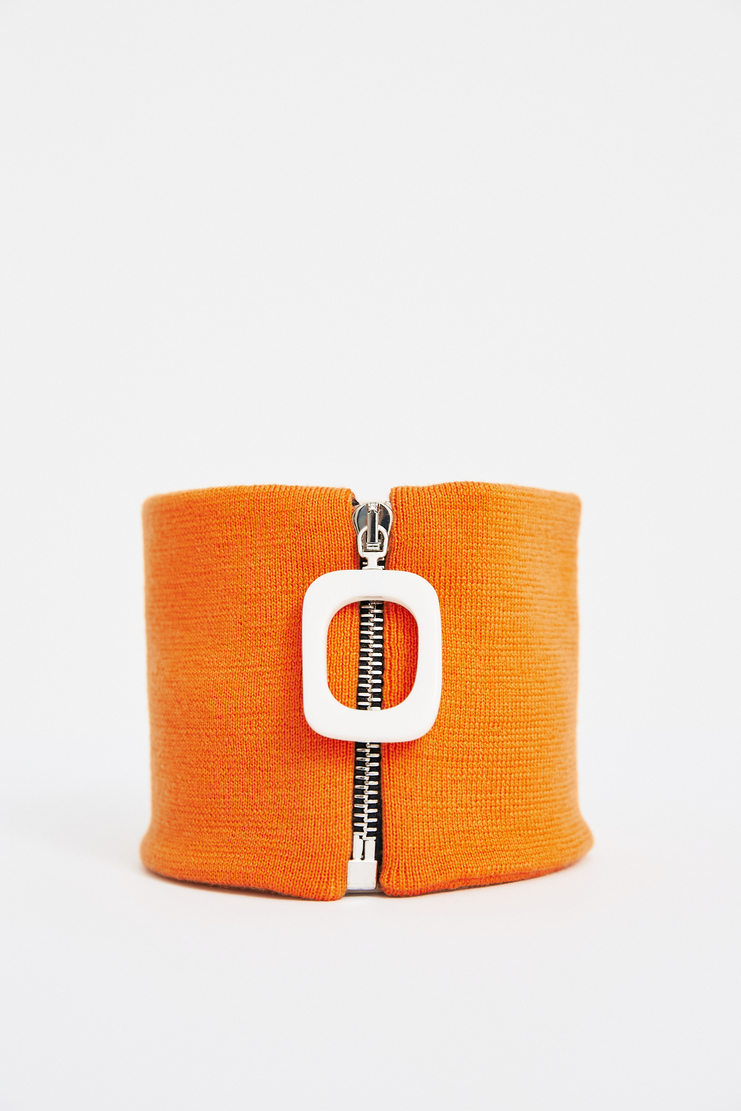 JW Anderson Orange Zipped Pendant Neckband J.W. Andersan Andersson Andersen Anderssen Jonathan Jonathon Loewe SS18 S/S 18 Spring Summer A/W 17 F/W 17 FW17 AW17 Autumn Winter Accessory Accessories AC02MS18 Machine-A