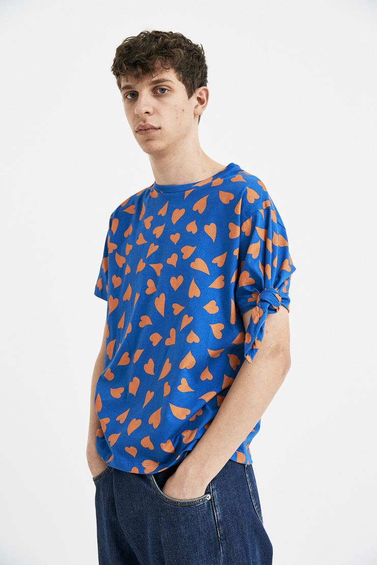 JW Anderson Blue Heart Knots T-Shirt Tee Top JE31MS18 S/S 18 SS18 Spring Summer Autumn Winter A/W 17 F/W 17 AW17 FW17 J.W. Andersan Andersson Andersen Anderssen Machine-A