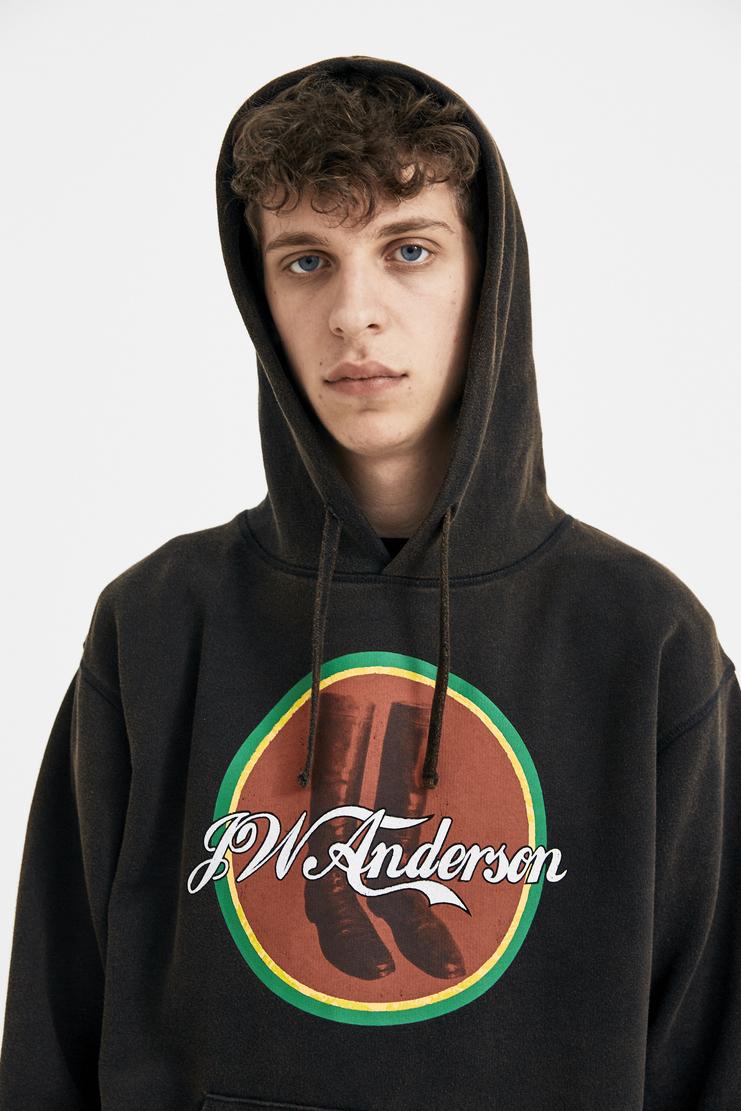 JW Anderson Cola Boots Hoodie Jumper Sweater Sweatshirt Jamaican Brown Ebony JE39MS18 S/S 18 SS18 Spring Summer Autumn Winter A/W 17 F/W 17 AW17 FW17 J.W. Andersan Andersson Andersen Anderssen Jonathan Jonathon Loewe