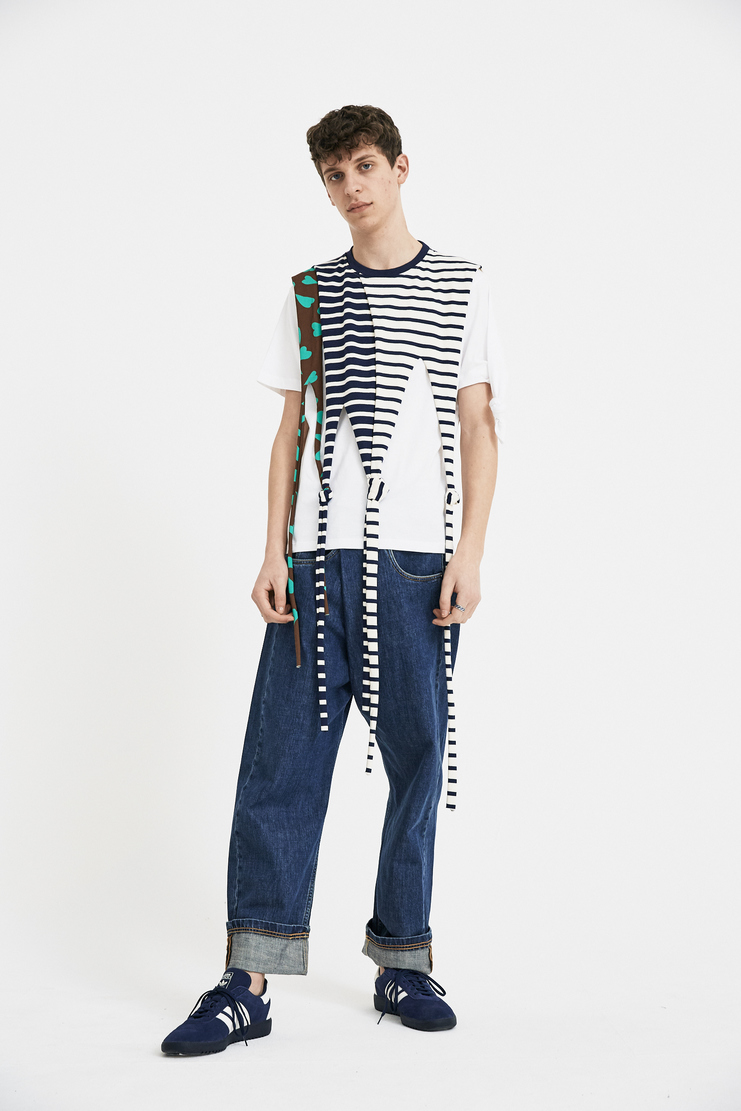 JW Anderson Drape Knot T-Shirt Tee Top Nautical Stripe Brown Green White Blue Heart Tassel Short Sleeve Crew JE44MS18 S/S 18 SS18 Spring Summer Autumn Winter A/W 17 F/W 17 AW17 FW17 J.W. Andersan Andersson Andersen Anderssen Machine-A
