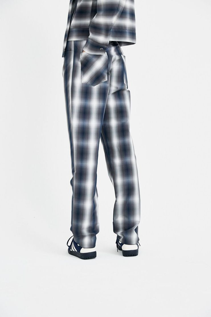 DELADA trousers pants grey check tailored S/S 18  ss18 dilada Spring Summer 2018 Machine-A DSM3TR03