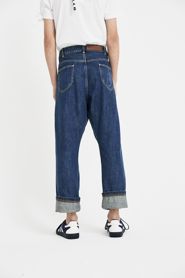 JW anderson jw anderson J W Anderson fold front jeans denim S/S18 SS18 Spring Summer 2018 trousers bottoms TR27MS18 Machine-A