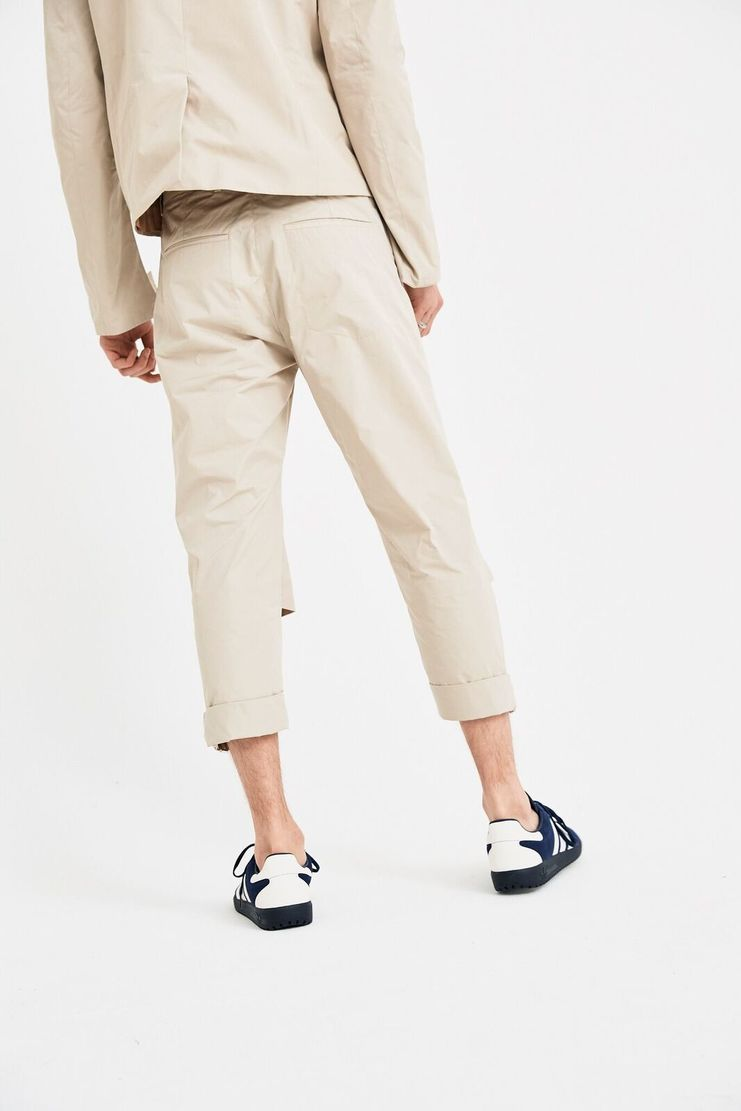 DELADA Beige Short Pants Trousers cut out straps tailored S/S 18  ss18 dilada Spring Summer 2018 Machine-A DMS3TR01 buckle