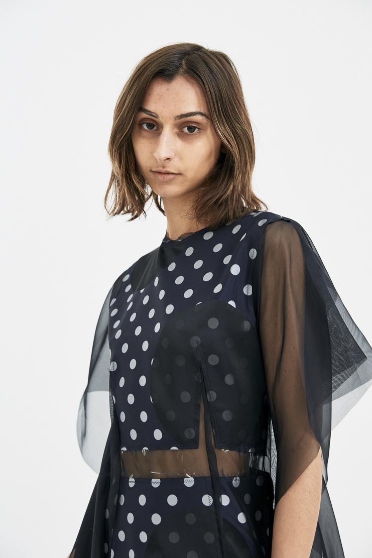 Maison Margiela Black Dress silk organza detail MMM S/S 18 Spring Summer 2018 SS18 MM6 Machine-A