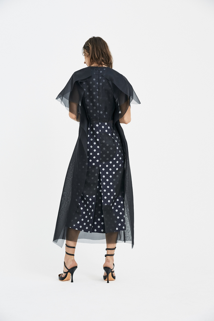 Maison Margiela Black Dress silk organza detail MMM S/S 18 Spring Summer 2018 SS18 MM6 Machine-A
