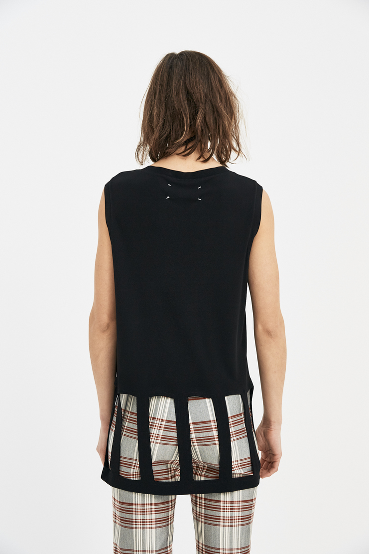 Maison Margiela black Shirt Top Cut Out Sleeveless SS18 S/S 18 Spring Summer 2018 MM6 Machine-A