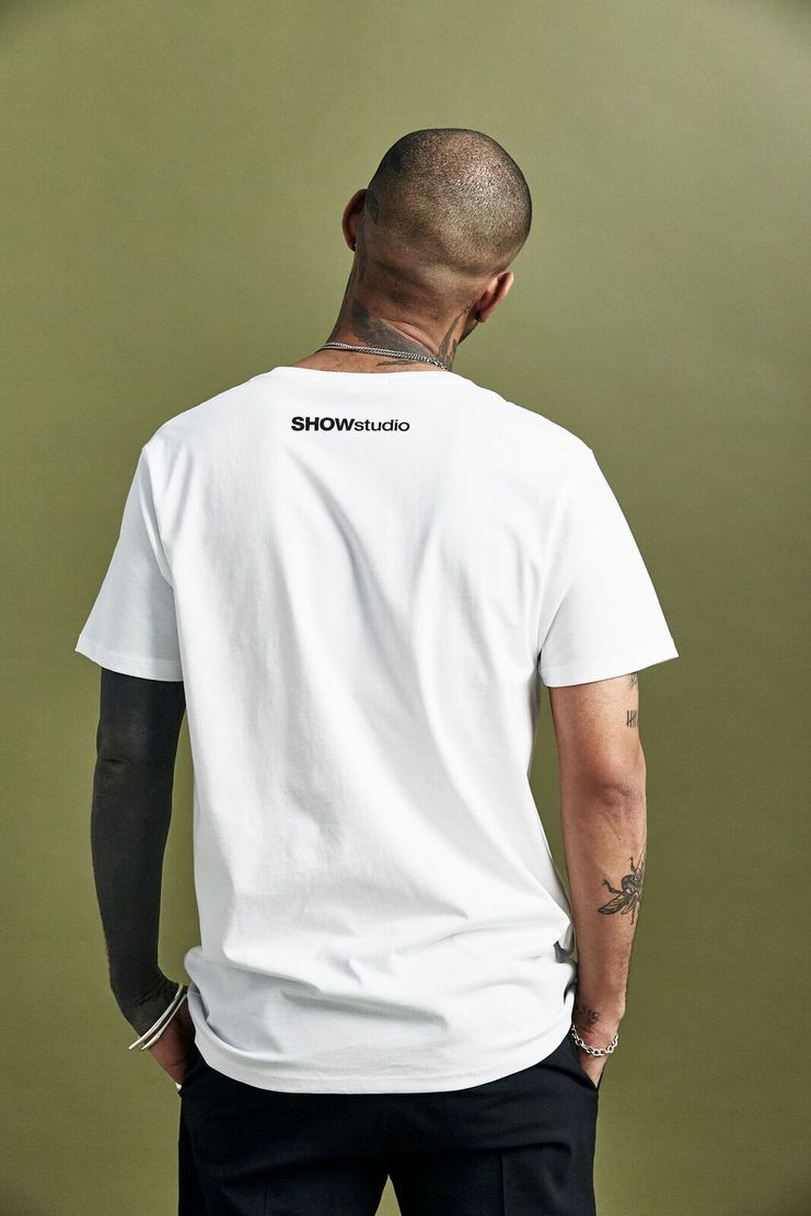 SHOWstudio White 'Sportswear' T-shirt t shirt Top Tee Crew-neck short sleeve SS18 S/S 18 Nick Knight Nik Night studioSHOW Black Monochrome and Merch Merchandise