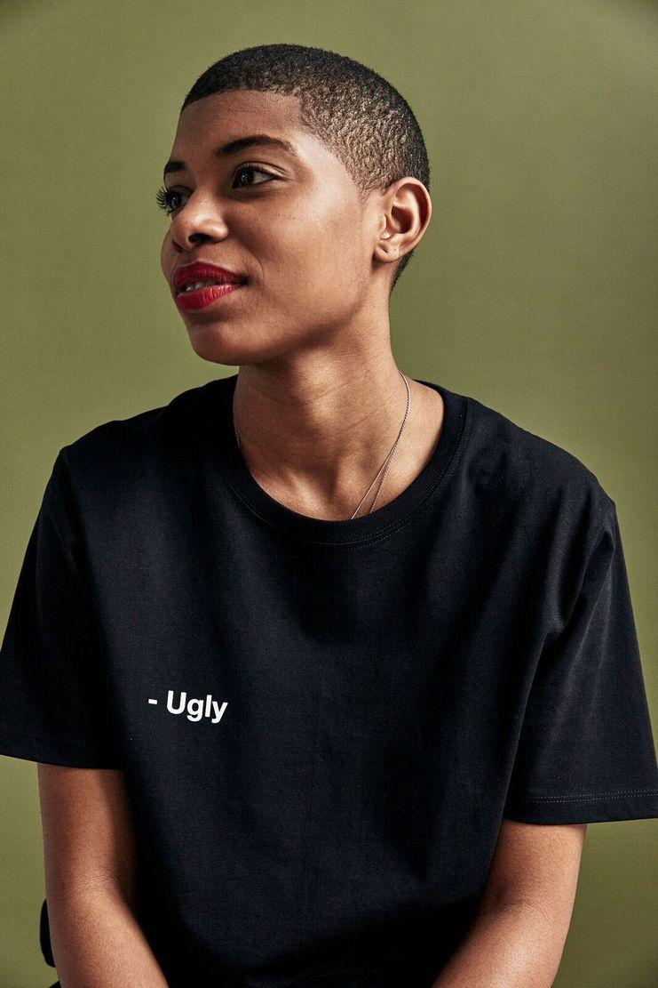 SHOWstudio Black 'Ugly' T-shirt t shirt Top Tee Crew-neck short sleeve SS18 S/S 18 Nick Knight Nik Night studioSHOW White Monochrome and Merch Merchandise
