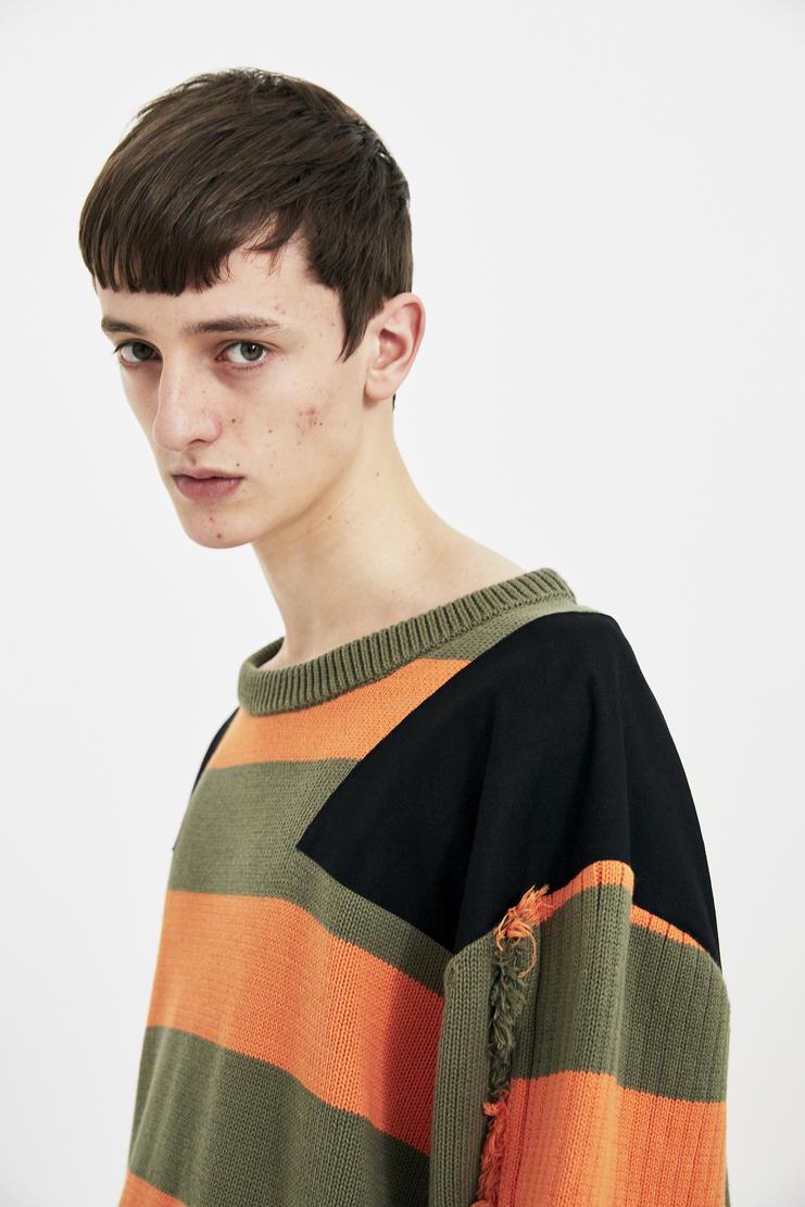 Liam Hodges stripe stripe knit Sweater Pullover SS18 S/S 18 Spring Summer Hoddie Machine-A