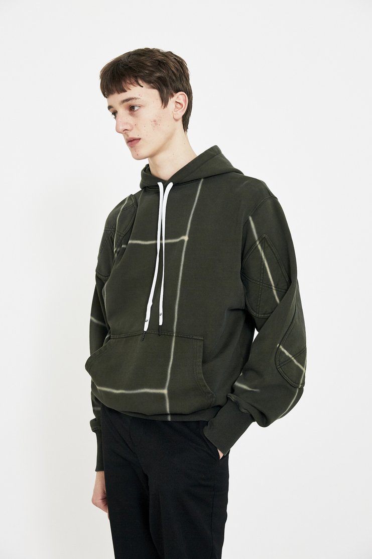 Liam Hodges Hoody Hoodie S/S 18 SS18 Spring Summer 2018 Green Graphic Print Jumper Sweatshirt  hoodie hooded sweater Machine-A
